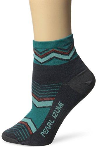 Pearl Izumi - Ride Women's Elite Socks, Chevrons/Viridian Green, - Viridian Pearl