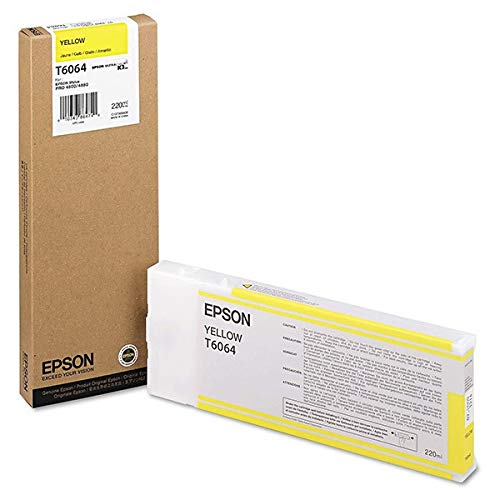 Epson UltraChrome K3 Ink Cartridge - 220ml Yellow (T606400) ()