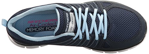 Skechers Damen Synergy-Look Book Laufschuhe Blau (Nvlb)