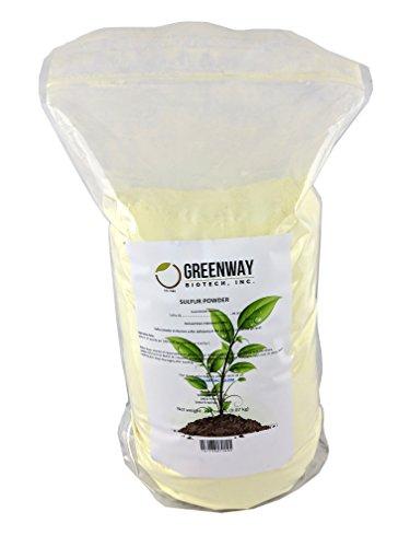 Yellow Sulfur Powder Greenway Biotech Brand 20 Pounds