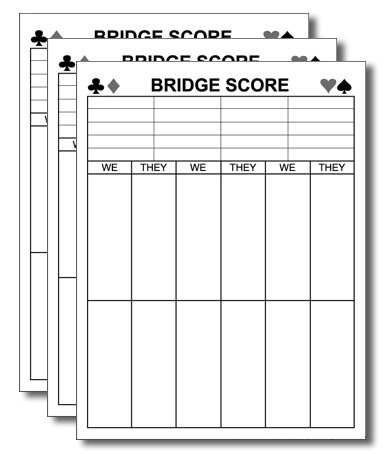(Guajolote Prints Bridge Score Notepad, 4.25 x 5.5 inches, 50 sheets, 3-Pack)