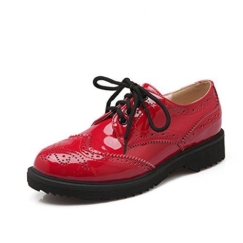 Retro viento británico venda en primavera y verano zapatos de las mujeres/oscuro B