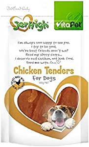 Vita Pet Jerhigh Chicken Tenders, Dog Treats, for Adult Dogs and Puppies, 100g