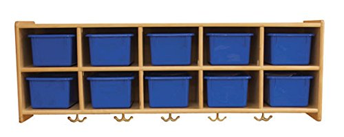 Kids' Station 10 Sect Preschool Wall Locker, Without Trays, Fully Assembled
