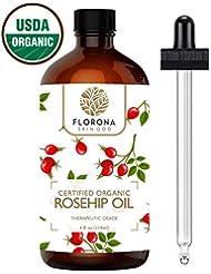 FLORONA Organic Rosehip Oil, 4Oz USDA Certified Organic