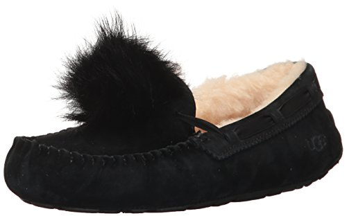 UGG Women's Dakota Pom Moccasin, Black, 8 M US for sale  Delivered anywhere in USA