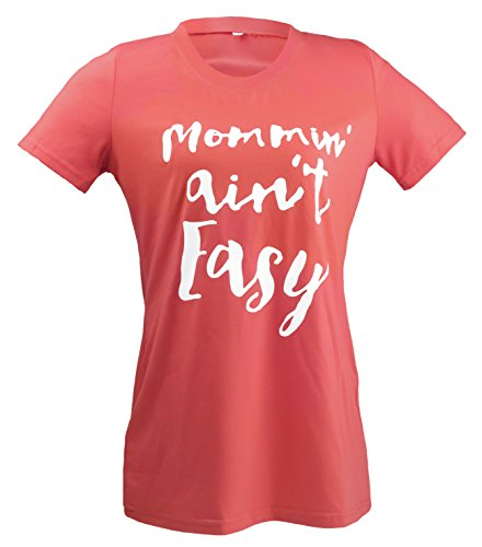 Womens Loose Plus Size Letter Print Mommin Aint Easy T Shirt Tops Tee Blouse