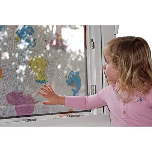Moustiquaire Auto-Agrippante Fen/être ENFANT Polyester Blanc 130 x 150 cm moustiquaire fen/être anti insect anti mouches Auto-Adh/ésif Rideaux Anti Moustique