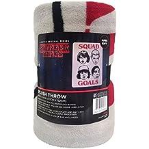 "Netflix Stranger Things Gray & Red Throw Blanket (46""x60"")"