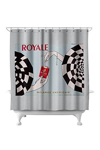 (Royale - Melange Americain Vintage Poster (artist: Villemot, Bernard) France c. 1966 (71x74 Polyester Shower)