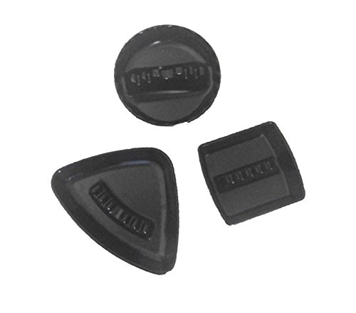 Set of 3 Black Duck Brand Black Ashtrays in 3 Different Shapes (Bird Ashtray)