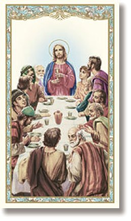 Last Supper Laminated Holy Card New Design with The Apostles' Creed