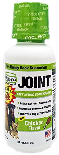 (Liquid-Vet Dog Joint Formula – Fast Acting Glucosamine for Joint Aid in Canines – Chicken Flavor – Trial Size, Buy 1 Get 1 Free – 8 Fluid Ounces)
