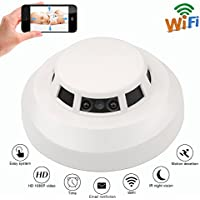 KAMRE Wi-Fi Hidden Camera HD 1080P Night Vision Spy Camera Smoke Detector with Motion Detection Caregiver Cam Security Nanny Camera Real time Video Remote View by APP (IOS& Android)