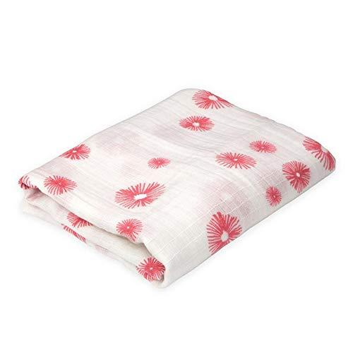 (Oliver & Rain Baby Swaddle Blanket - Floral Burst)