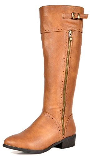 (DREAM PAIRS Women's Koson Camel Knee High Winter Riding Boots Size 5.5 M US)