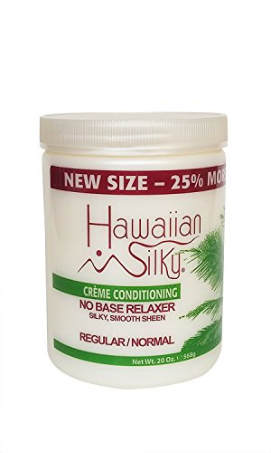 (Hawaiian Silky No Base Relaxer Regular, 20 oz, Creme Conditioning for all Hair Types & Styles )