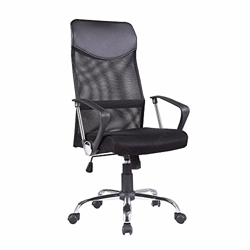 new-modern-executive-office-chair-desk-high-back-black-ribbed-upholstered-pu-leather