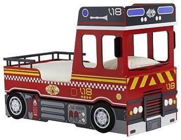 LIT X CAMION POMPIER Gigogne Amazonfr Cuisine Maison - Lit gigogne camion de pompier