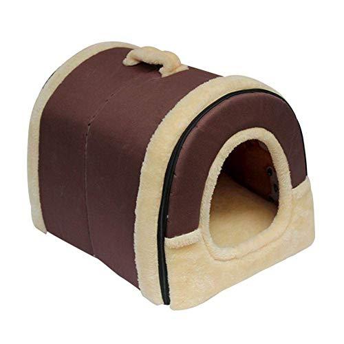 YUMUO Cama para Mascotas Cama y sofa para Mascotas 2 en 1, Nido Antideslizante para Perros Cama para Gatos Cojines de Invierno Desmontables Suaves y Plegables (Color: A, Tamano: XXL)