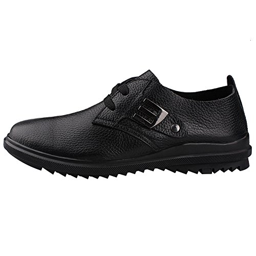 Chaussures Antidérapant Hommes Confort En Lacer Véritable Cuir Classique Baskets Jamron Noir Décontractée IqWxzpRwp