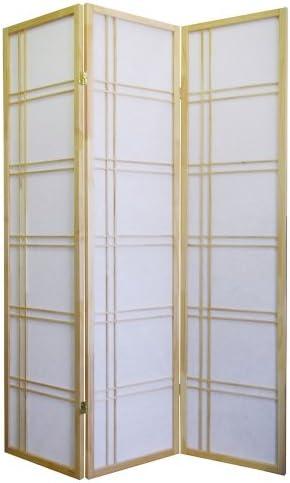 ORE International 3 Panel Room Divider – Natural