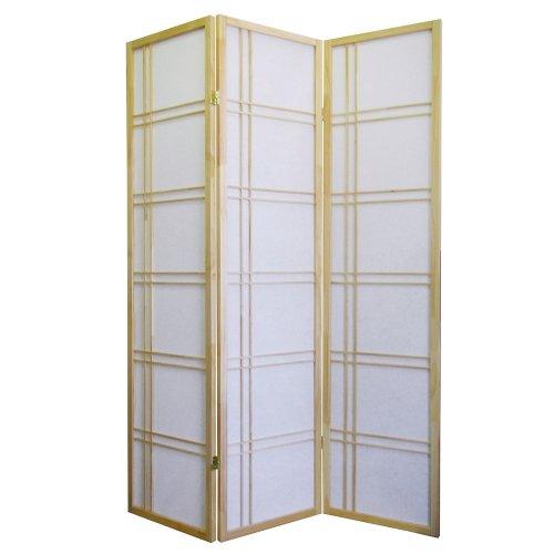 - ORE International 3 Panel Room Divider - Natural