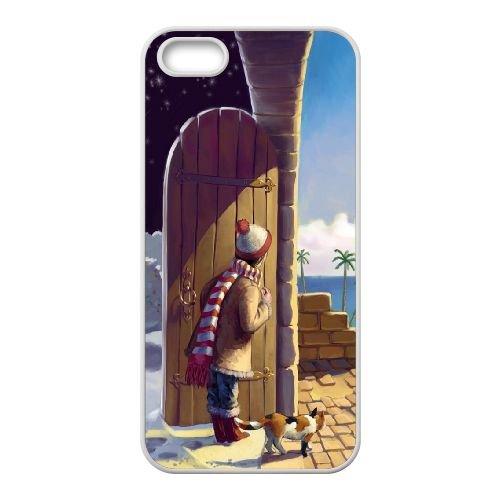 Sun And Snow L coque iPhone 5 5s cellulaire cas coque de téléphone cas blanche couverture de téléphone portable EEECBCAAN05499