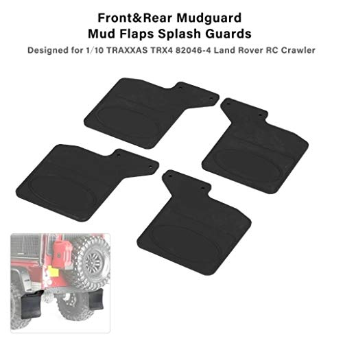Clothful  Front  Rear Mud Flaps Rubber Fender Mudguard for 1/10 RC TRAXXAS TRX-4 D110 ()