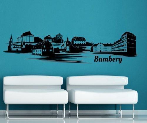 Wandtattoo Bamberg Skyline Aufkleber City Stadt Wandbild Deutschland 1M289, Farbe Dunkelgrau glanz;Skyline Länge 220cm B00IBROEHO Wandtattoos & Wandbilder