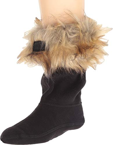 Hunter Kids Baby Girl's Faux Fur Cuff Boot Sock (Toddler/Little Kid/Big Kid) Tawny -