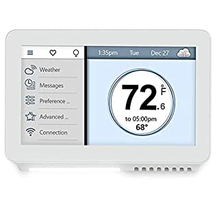 Vine Smart Wi-Fi TJ-919 7-Day Program Home Thermostat w/Touchscreen & App Control&Alexa