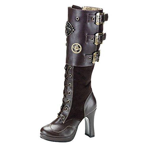 Heels-Perfect - Botas de Material Sintético para mujer marrón