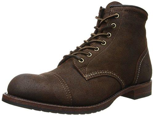 FRYE Men's Logan Captoe Boot,Dark Brown,11 M US (Boots Frye Logan)