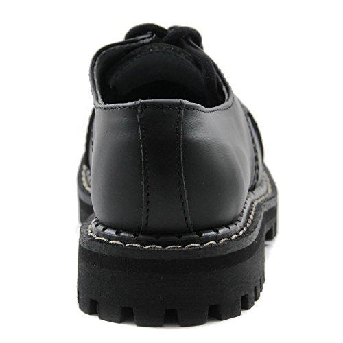 Angry Itch - 3-trous gothique punk cuir noire chaussures rangers - pointures 36-48 - Fabriquée en EU!