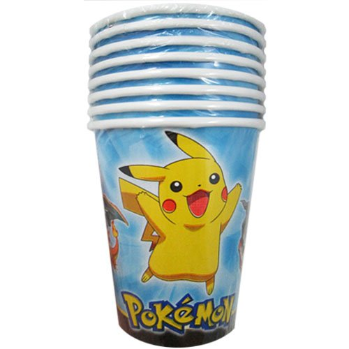 Pokemon 'Pikachu and Friends' 9oz Paper Cups (Pokemon 9 Ounce Cups)