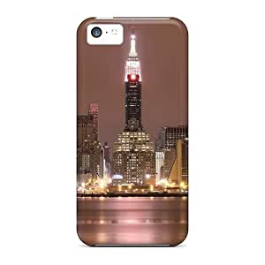 Bumper The Empire State Building At Night For Iphone 5c PC mobile fashion case miao's Customization case