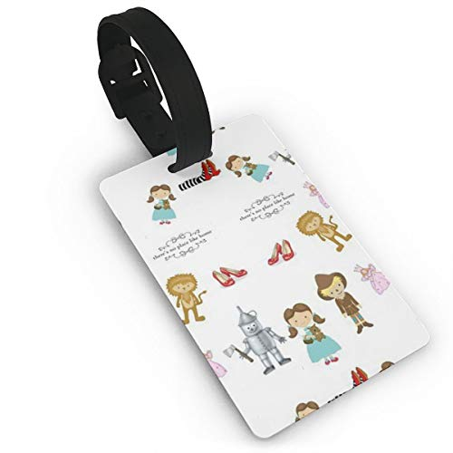(YGXDPM Wizard of Oz Luggage Tag Suitcase Labels Bag Travel Accessories ID Cards for Luggage Baggage Travel Identifier)
