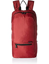 Packable Backpack Daypack, Red, One Size