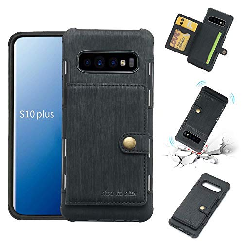 Galaxy S10 Plus Case, Futanwei Wallet Case [TPU...
