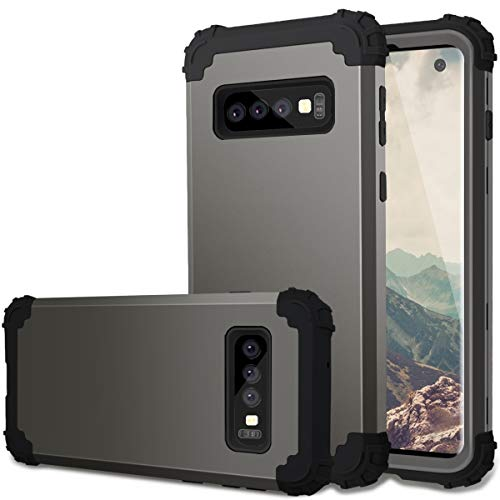 Fingic Case for Galaxy S10, Samsung S10 Case Hybrid Hard PC Soft Rubber Bumper Heavy Duty Rugged Full Body Shockproof Protective Phone Cover Case for Samsung Galaxy S10 6.1 inch (2019) - Gun Metal
