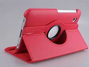 Amar 360 Degree Rotating PU Leather Pouch Stand Cover Case For Samsung Galaxy Tab 2 7.0 P3100 P3110 Tab2 (red)