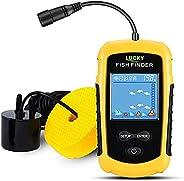 LUCKY Kayak Portable Fish Depth Finder Water Handheld Fish Finder Sonar Castable Kayak Boat Fishfinder Transdu