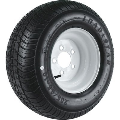 Kenda High Speed Standard Rim Design Trailer Tire Assembly - 5-Hole, 205/65-10