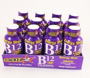 Stacker 2 - B-12 Energy Shot Grape 2oz 12 Pack