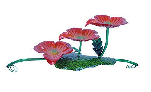 (Continental Art Center Metal Three Flowers Fountain, 17 by 8 by 7-Inch by Continental Art)