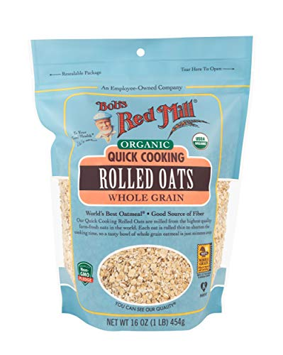 - Bob's Red Mill Organic Quick Cooking Rolled Oats, 16 Ounce (Pack of 4)