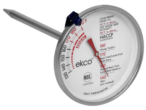 World Kitchen Ekco Dial Meat Thermometer, Large