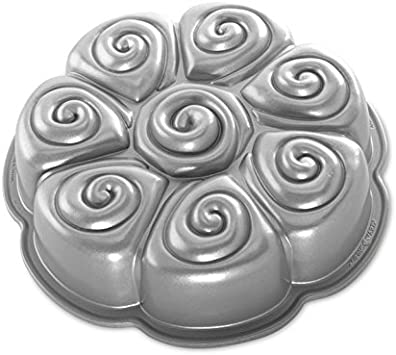 Nordic Ware 88137 Cinnamon Bundt Cake Pan, One Size, Metallic