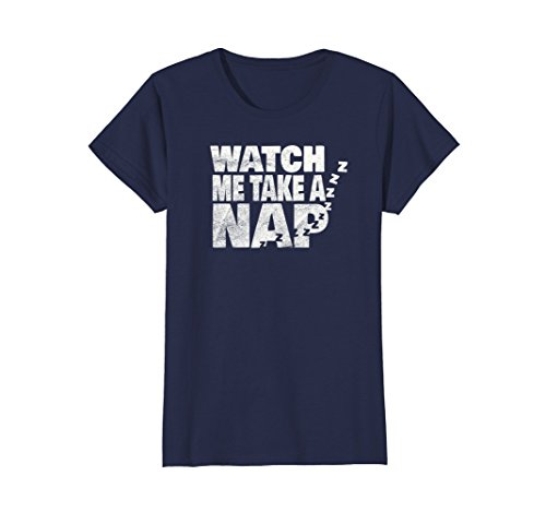 Womens Sleeping Shirt Women And Men Watch Me Take a Nap Medium Navy
